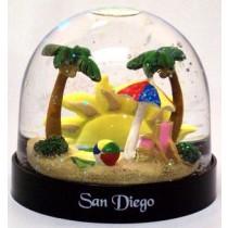 San Diego Globe Beach Scene Plastic